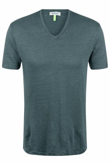 Herren T-Shirt aus Leinen Grau