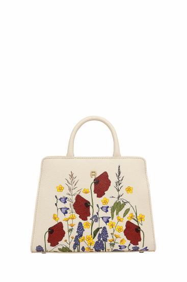 Damen Handtasche Cybill Fiorellina XS Natur Weiss