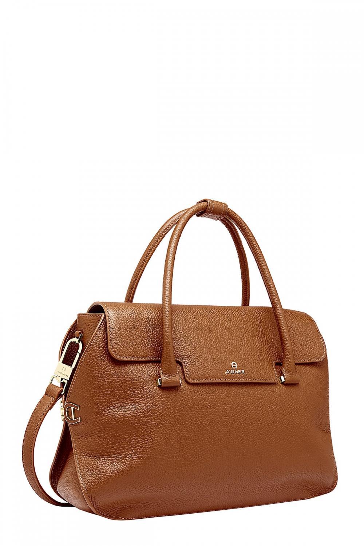 Aigner Damen Handtasche Milano L Braun 2
