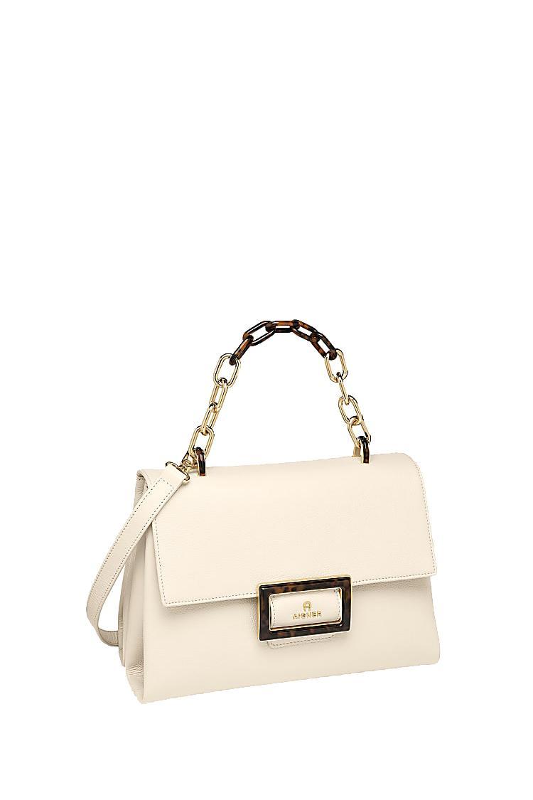 Aigner Damen Handtasche Vicenza M Antique White 2