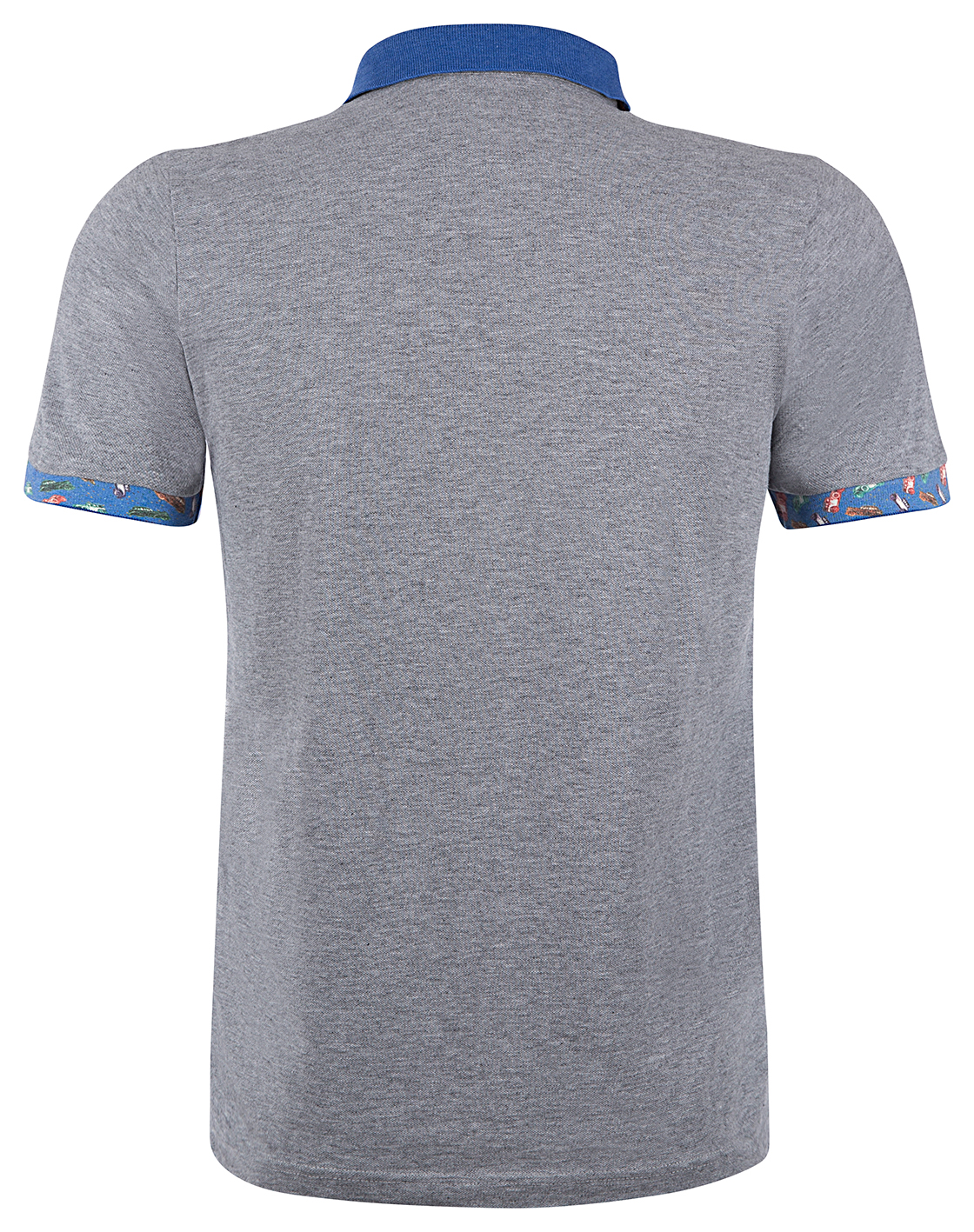 "BOB Herren Poloshirt ""Reef"" Grigio Melange 2"