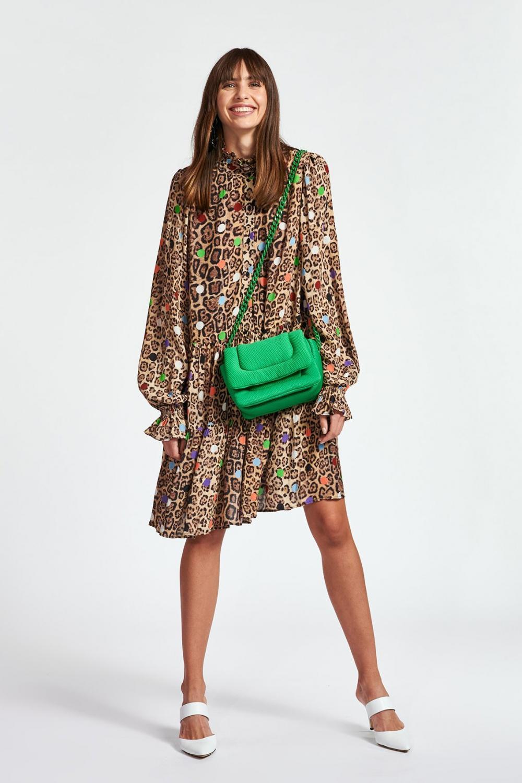 Essentiel Antwerp Damen Kleid mit Leoprint Zex  Braun 2