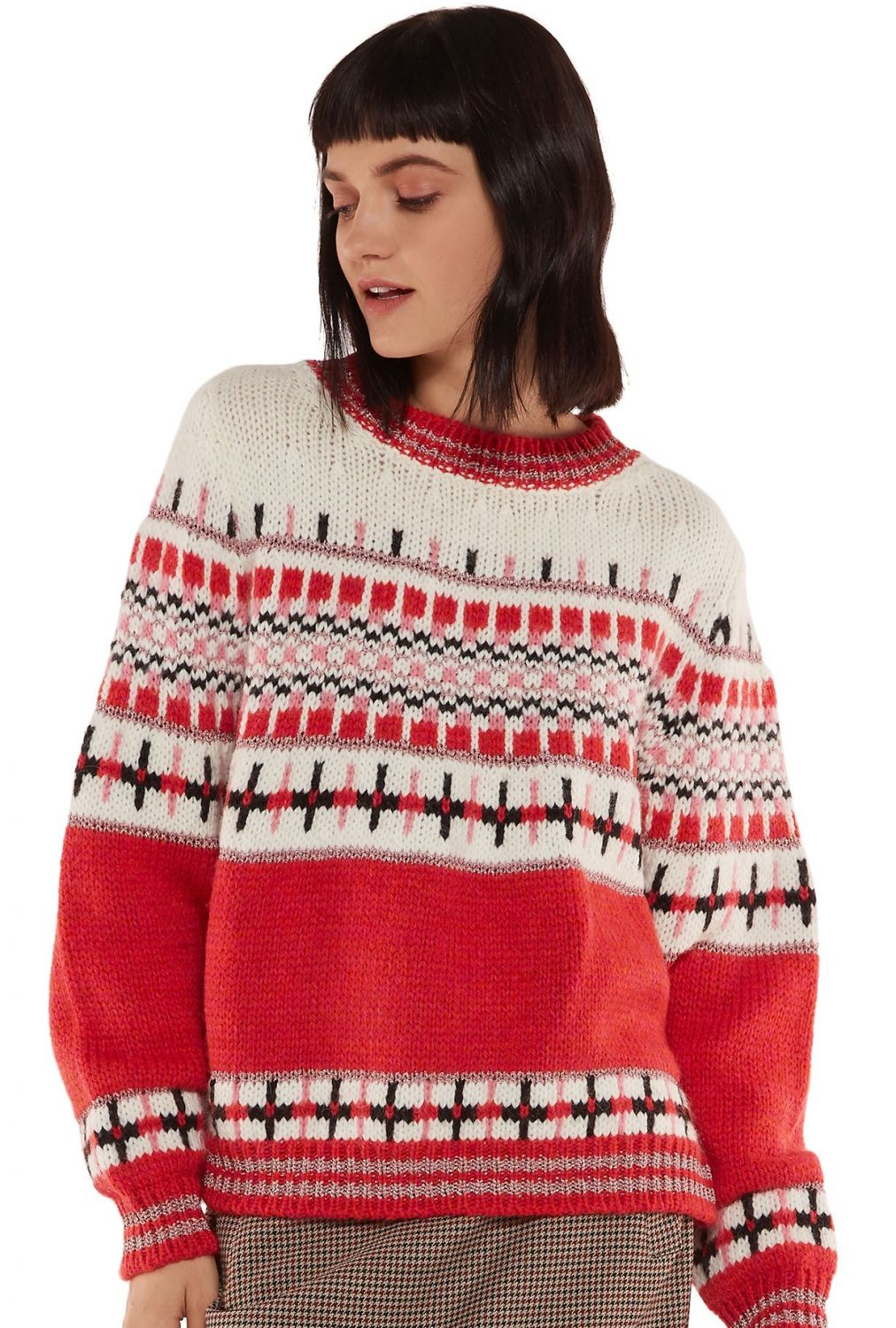 "Essentiel Antwerp Damen Strickpullover ""Rochers"" Rot 2"