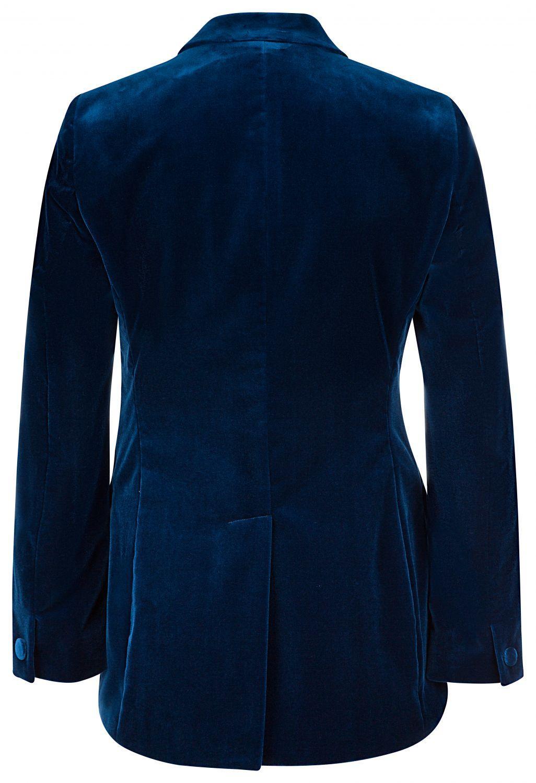 Etro Damen Samtblazer Blau 2
