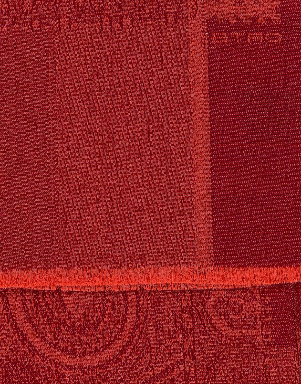 Etro Herren Schal gemustert Rot 2
