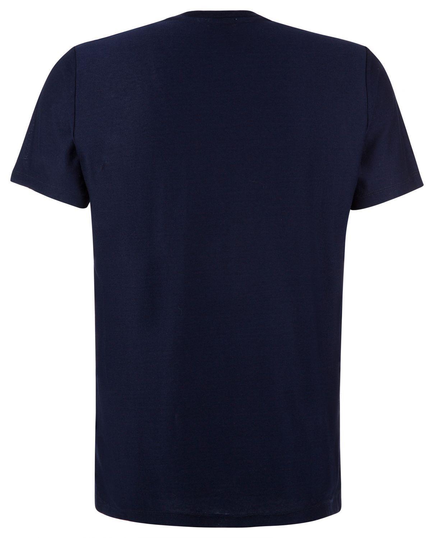 Etro Herren T-Shirt mit Samtdruck Navy 2