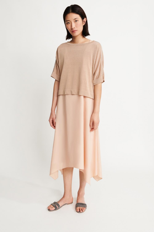 Fabiana Filippi zweiteiliges Damen Kleid Beige