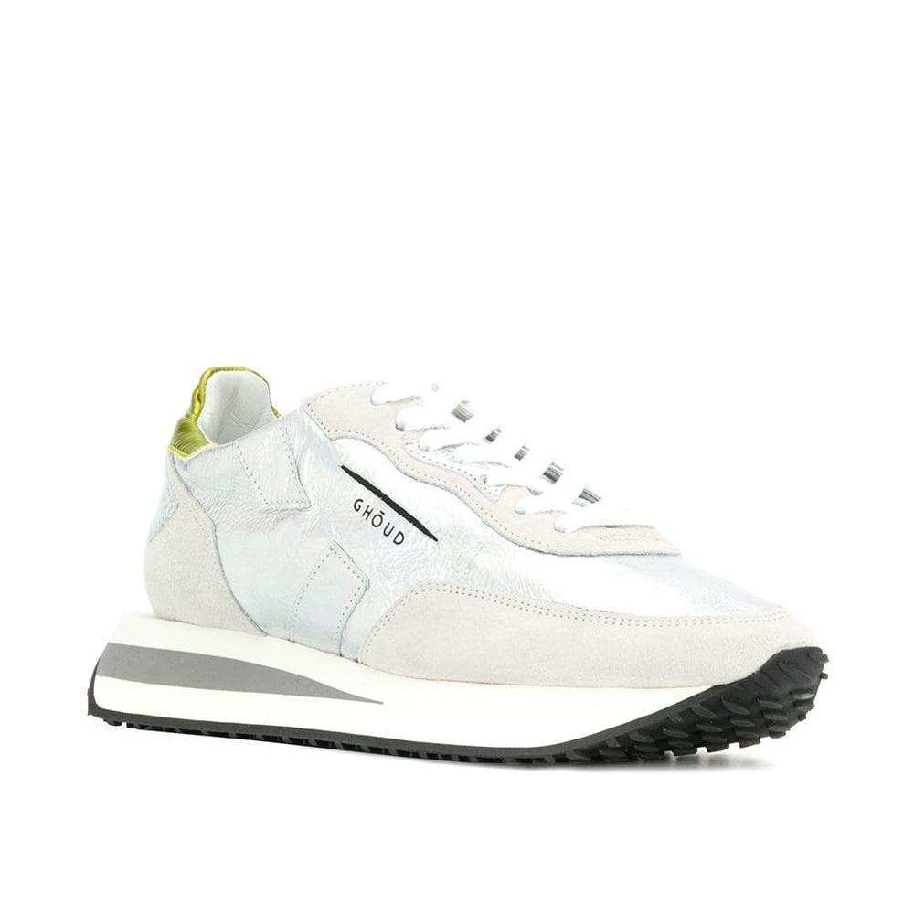 "Ghoud Damen Ledersneaker ""Rush"" Silber 2"