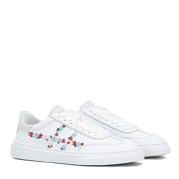 new concept fca45 acea2 Hogan Damen Ledersneaker H365 Weiss | SAILERstyle