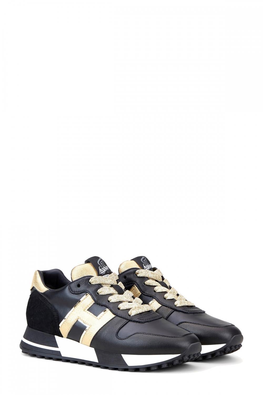 Hogan Damen Sneaker H383 Schwarz 2
