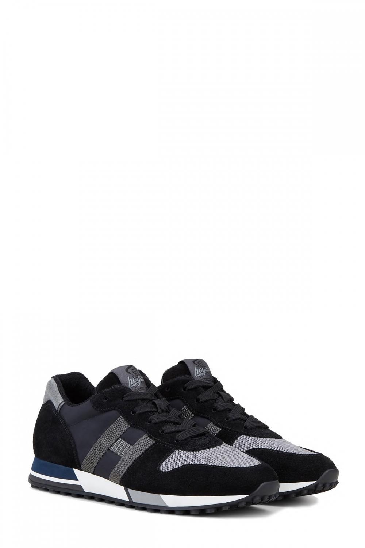 Hogan Herren Sneaker H383 Schwarz/Grau 2