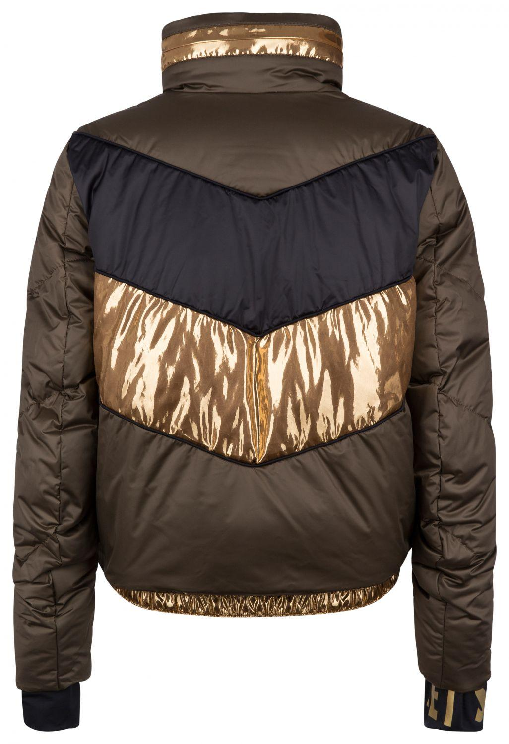 "Jet Set Damen Skijacke ""Harper Chic"" Army Gold 2"