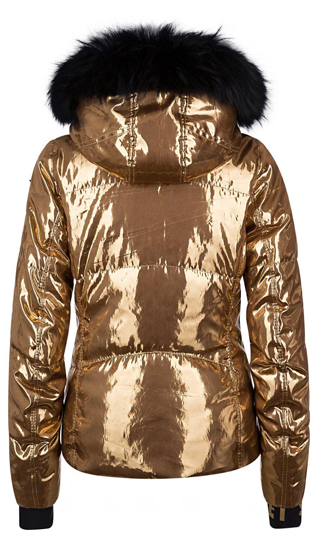 "Jet Set Damen Skijacke ""Liv Glam Fur"" Gold 2"