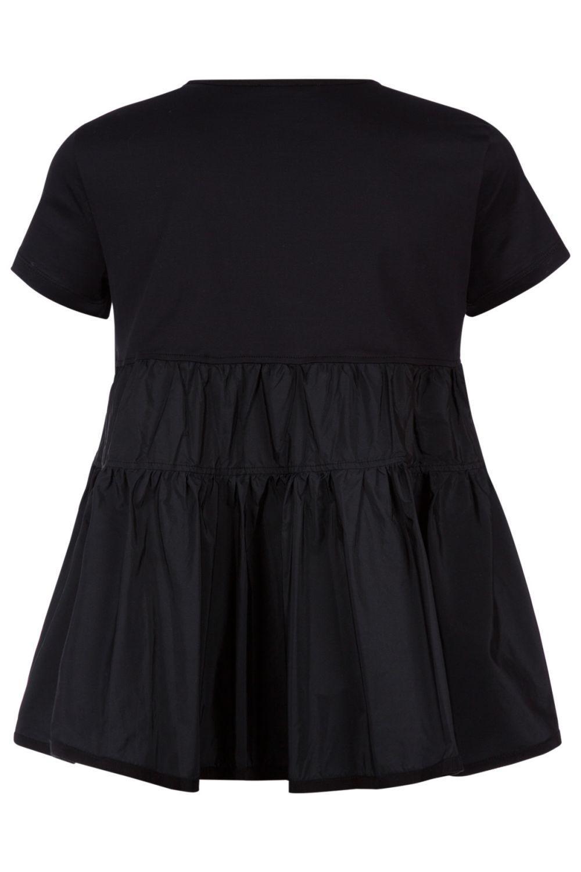 Moncler Damen T-Shirt mit Schößchen Schwarz 2
