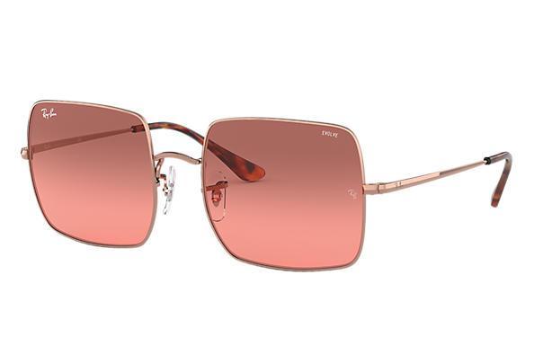 Ray Ban Damen Sonnenbrille Square Evolve Rot Photochromatisch 2
