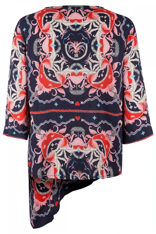 Riani Damen Bluse mit Print Navy 2