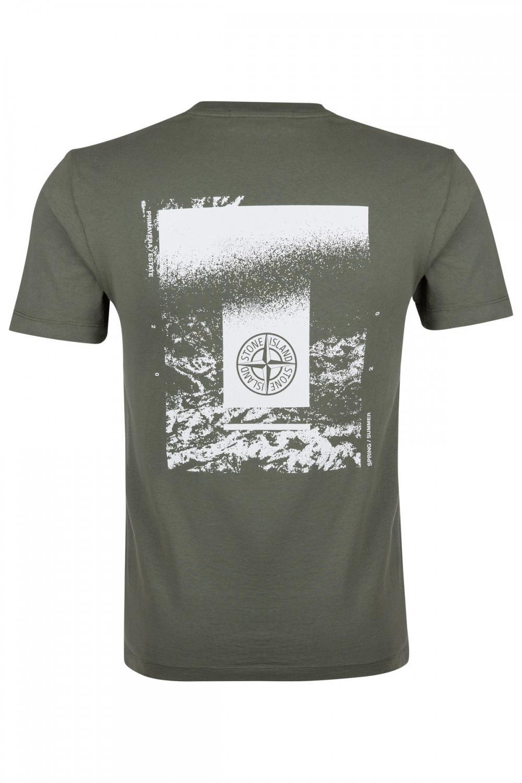 Stone Island Herren Logo T-Shirt Olive 2