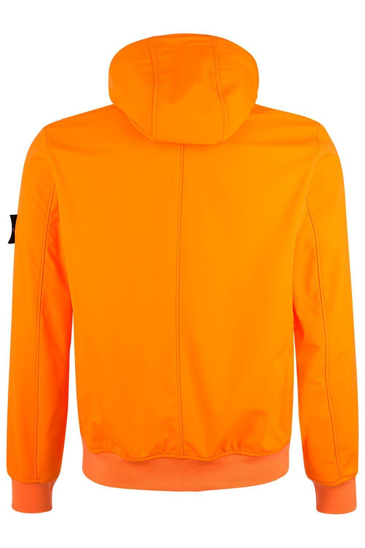 Stone Island Herren Softshelljacke Light Soft Shell-R Orange 2