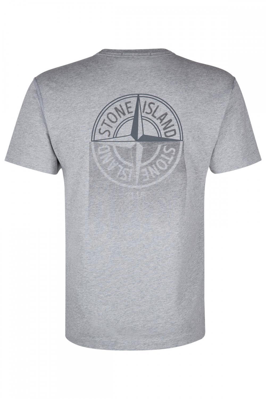 Stone Island Herren T-Shirt Grau meliert 2