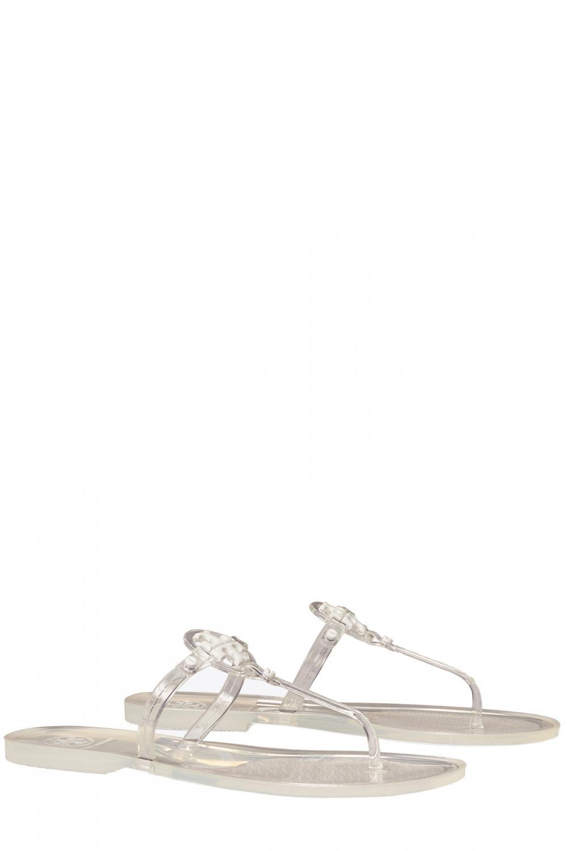 Tory Burch Damen Sandale Mini Miller Flat Thong-Tpu Transparent 2