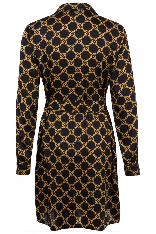 Twin Set Damen Blusenkleid mit Kettendesign Schwarz 2