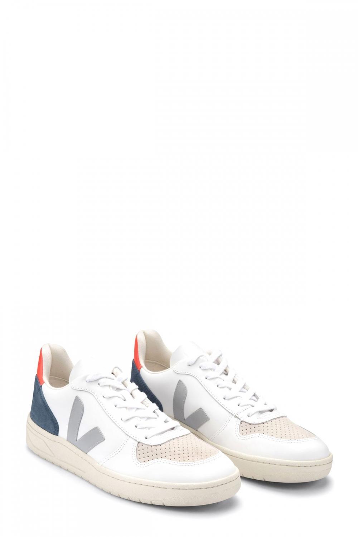 Veja Herren Sneaker Fluo Weiss 2