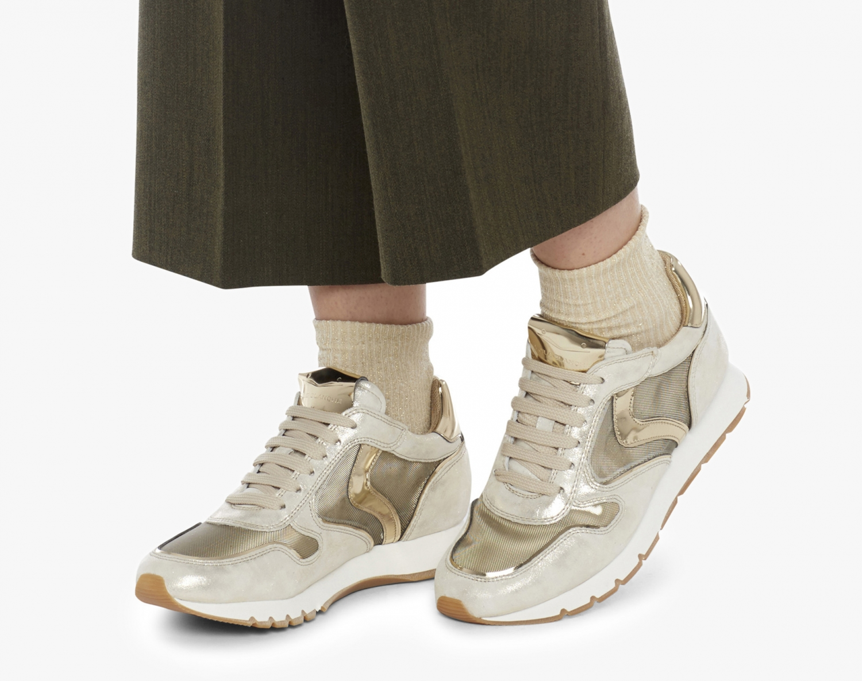 Voile Blanche Damen Sneaker Julia Mesh Silber/Gold 2