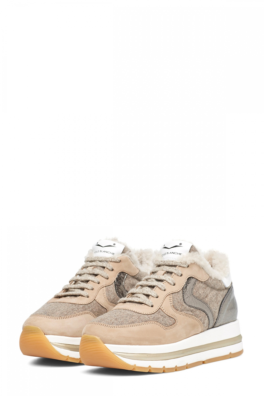 Voile Blanche Damen Sneaker Maran Fur Beige 2