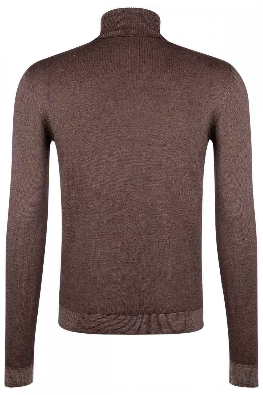 Wool & Co Herren Rollkragenpullover Taupe 2