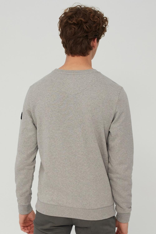 Ecoalf Herren San Diego Sweatpullover Grau Melange 3