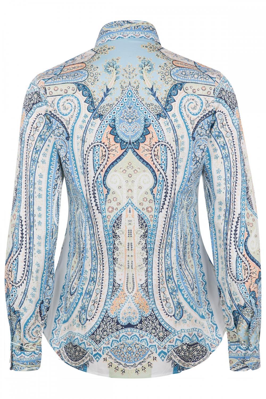 Etro Damen Bluse mit Print Blau 3