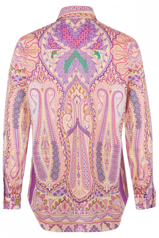 Etro Damen Bluse mit Print Pink 3