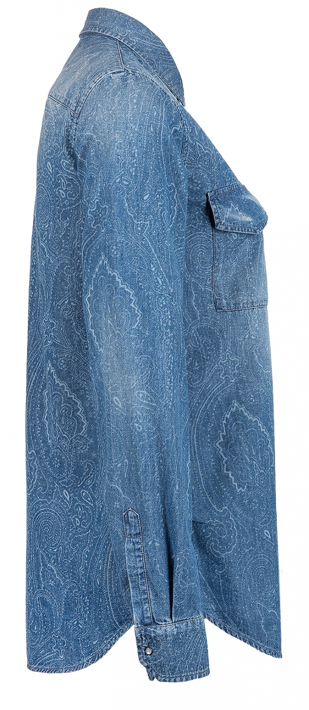 Etro Damen Jeansbluse mit Paisleyprint Blau 3