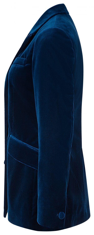 Etro Damen Samtblazer Blau 3