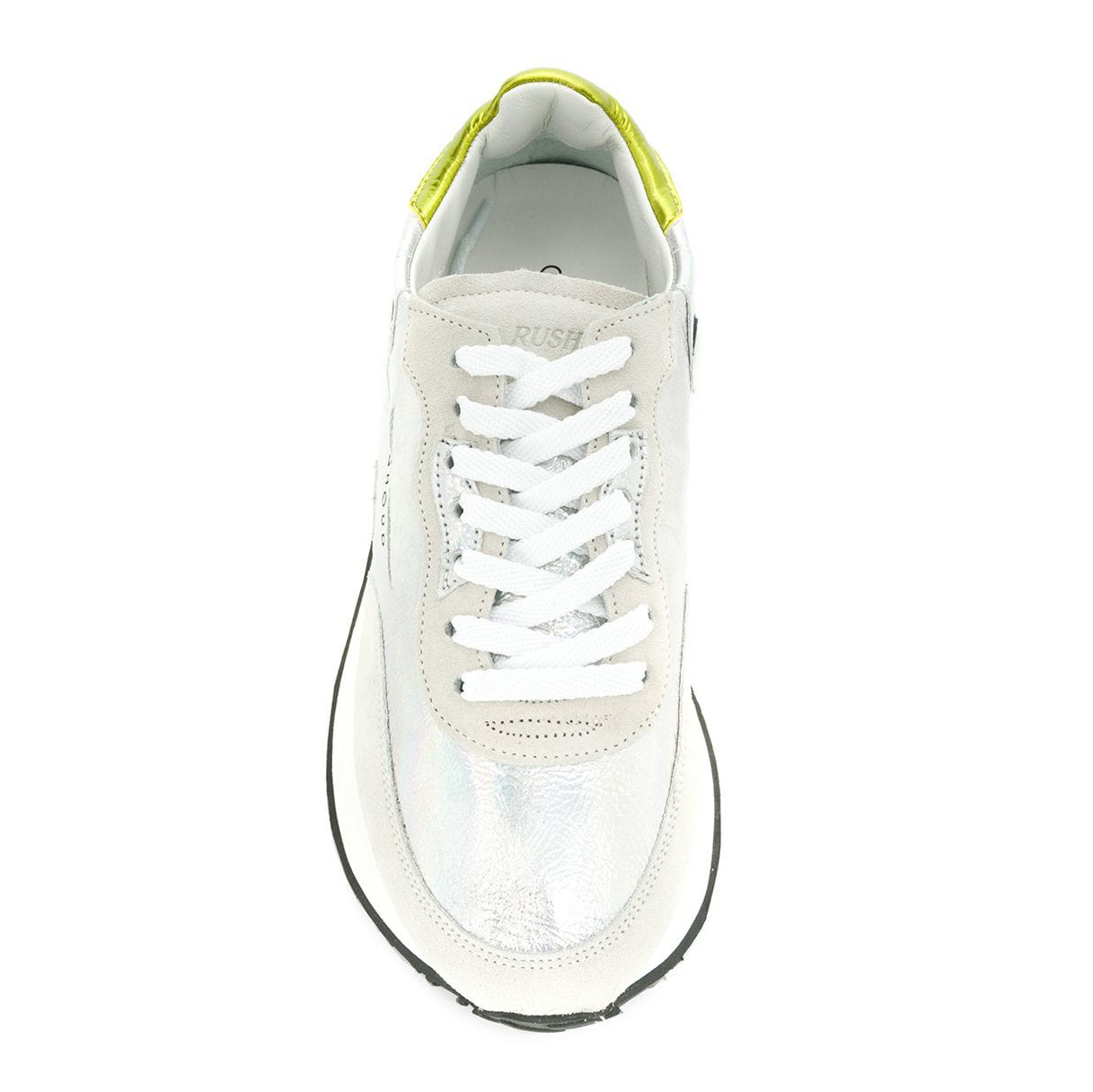 "Ghoud Damen Ledersneaker ""Rush"" Silber 3"