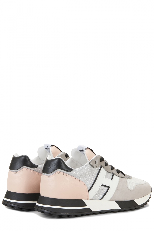 Hogan Damen Sneaker H383 Allacciato Pelle Grau 3