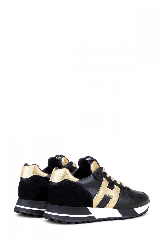 Hogan Damen Sneaker H383 Schwarz 3