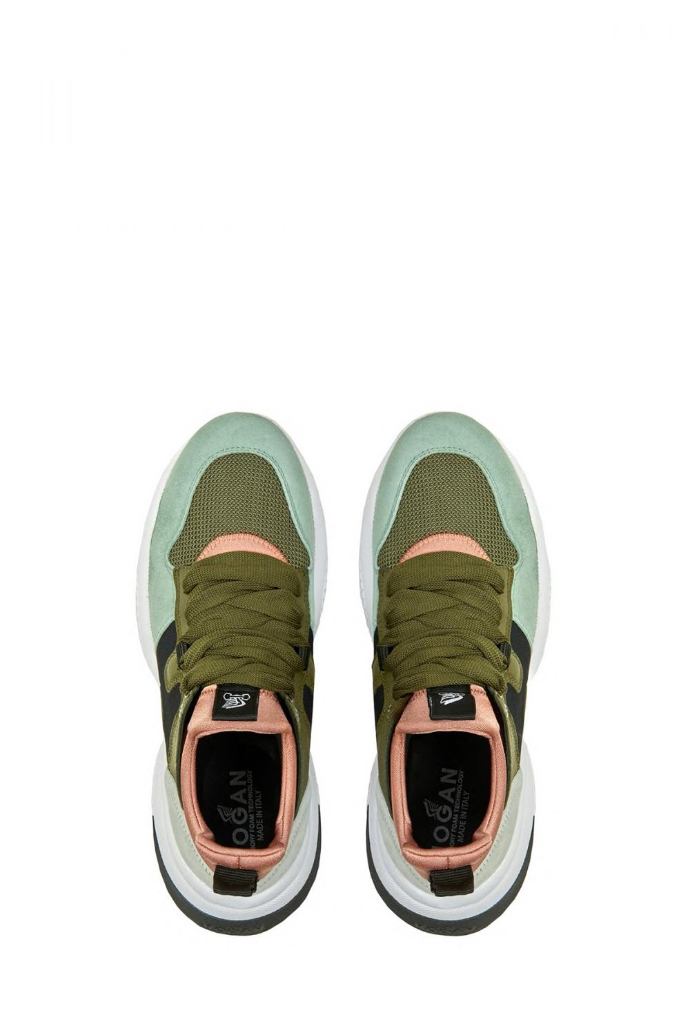 Hogan Damen Sneaker Interaction Slip On Olive 3