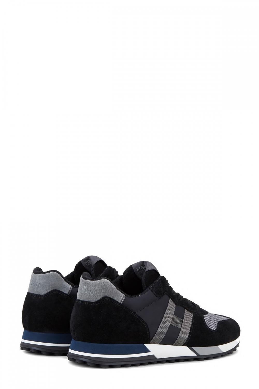 Hogan Herren Sneaker H383 Schwarz/Grau 3