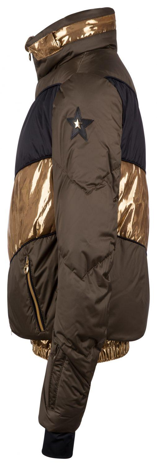 "Jet Set Damen Skijacke ""Harper Chic"" Army Gold 3"