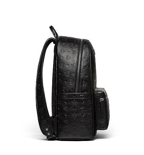MCM Rucksack Ottomar Monogrammed Leather Schwarz 3