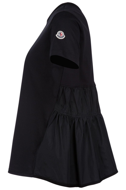 Moncler Damen T-Shirt mit Schößchen Schwarz 3