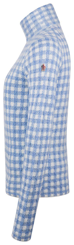 Moncler Grenoble Damen Strickpullover Blau Weiss 3
