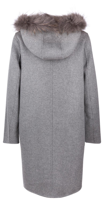 OakWood wendbarer Damen Wollmantel Yale Beige/Grau 3