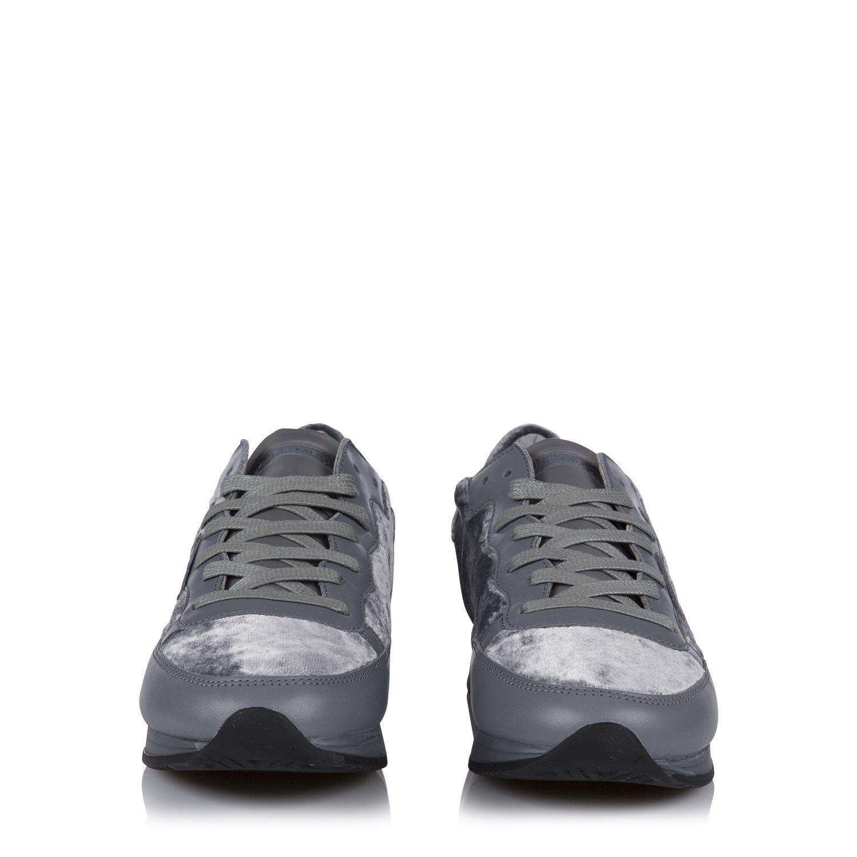 Philippe Model Herren Tropez Sneaker Grau Gummisohle