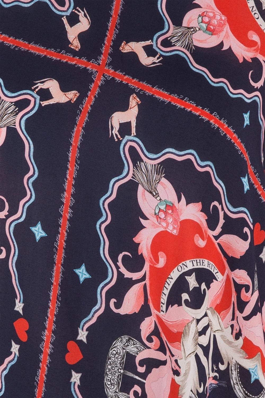 Riani Damen Bluse mit Print Navy 3