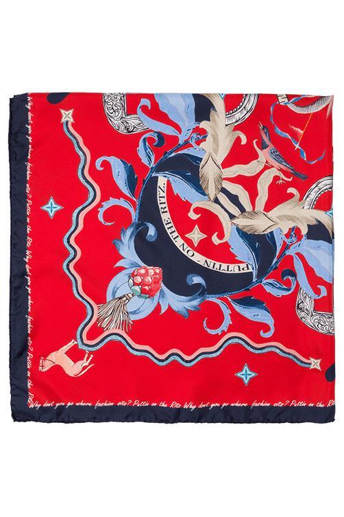 Riani Damen Halstuch aus Seide Rot 3