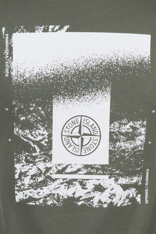 Stone Island Herren Logo T-Shirt Olive 3
