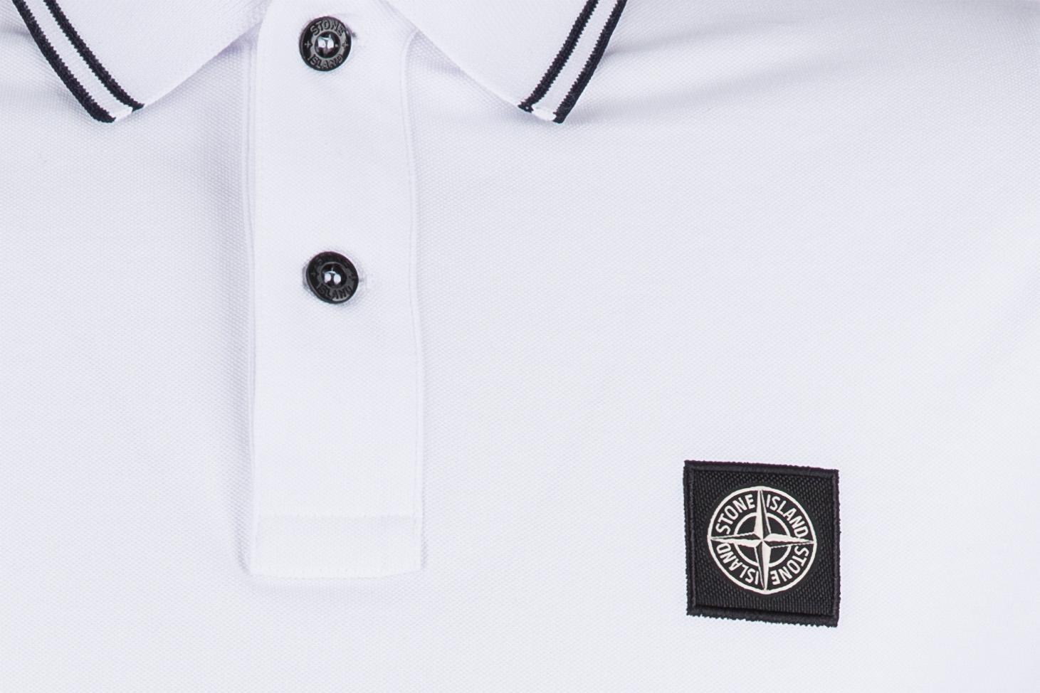 Stone Island Herren Poloshirt Weiss 3