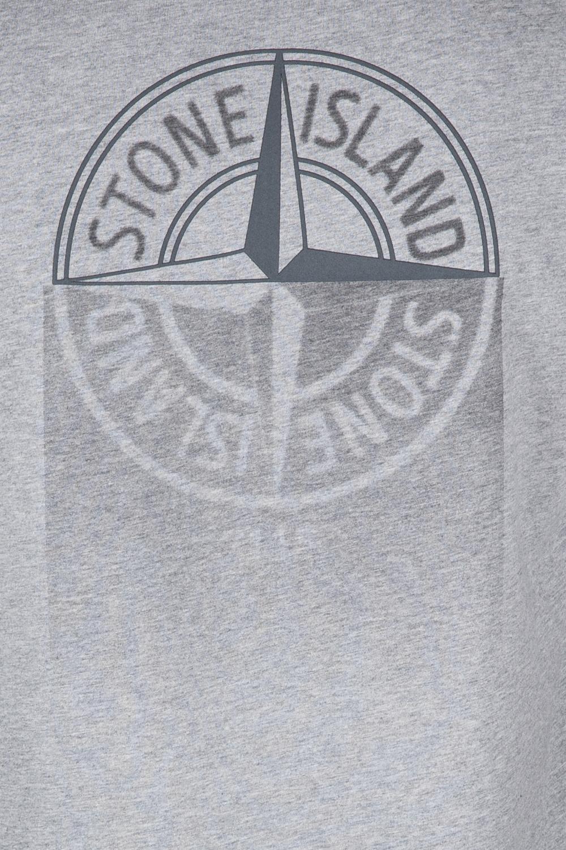 Stone Island Herren T-Shirt Grau meliert 3